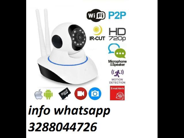 Telecamera full hd 720p motorizzata 360 videosorveglianza wifi - 1/1