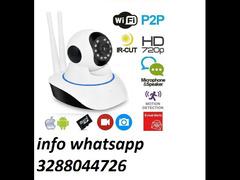Telecamera full hd 720p motorizzata 360 videosorveglianza wifi