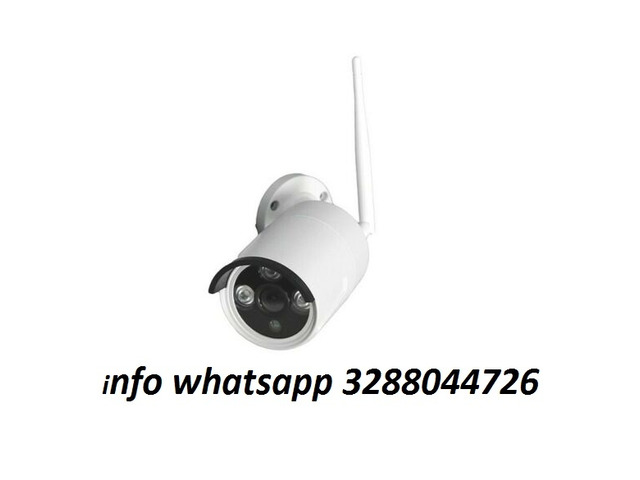 Telecamera senza fili 2mpx ip camera esterno wifi cam 3 led