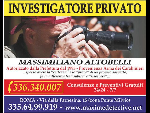 Investigatore Privato a Roma - Massimiliano Altobelli - 1/2