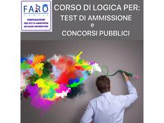 CORSO DI LOGICA PER CONCORSI PUBBLICI E TEST DI AMMISSIONE UNIVERSITARIA