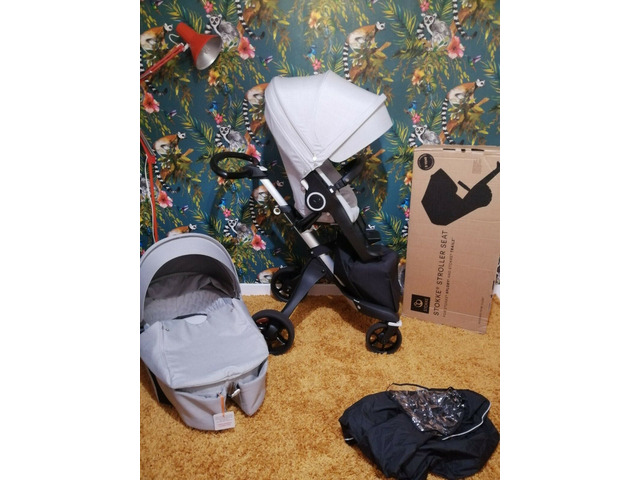 Stokke Xplory v6 Grigio Melange Carry culla e sedile unità!