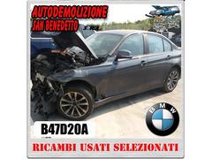 Ricambi auto BMW 320 D 190CV '015 sigla B47D20A