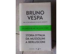 """BRUNO VESPA """"STORIA D'ITALIA DA MUSSOLINI A BERLUSCONI"""", Mondadori editore"""