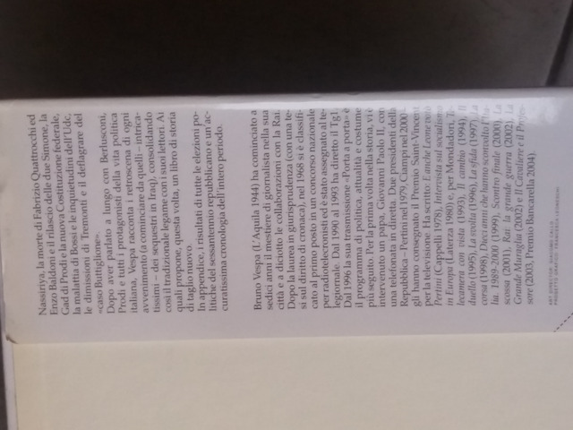 """BRUNO VESPA """"STORIA D'ITALIA DA MUSSOLINI A BERLUSCONI"""", Mondadori editore - 3"""