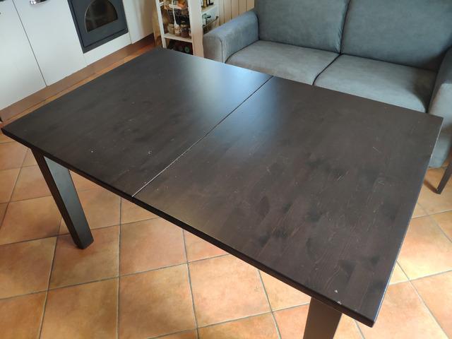 Ikea Tavolo Quadrato Allungabile.Tavolo Allungabile Usato Ikea Stornas Stornas Pino Nero La 95cm
