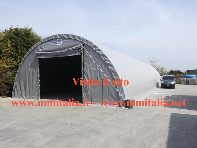 Tunnel Agricoli Agritunnel Professionali telo in pvc 720gr. mq. Ignifugo - 2