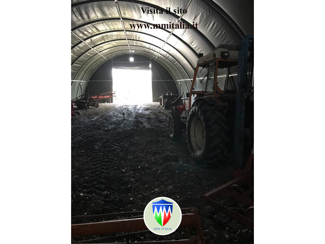 Tunnel Agricoli Agritunnel Professionali telo in pvc 720gr. mq. Ignifugo - 3