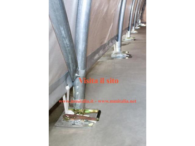 Tunnel Agricoli Agritunnel Professionali telo in pvc 720gr. mq. Ignifugo - 4
