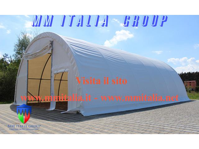 Tunnel Agricoli Agritunnel Professionali telo in pvc 720gr. mq. Ignifugo - 8