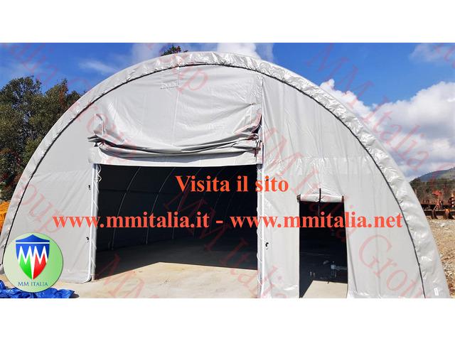 Tunnel Agricoli Agritunnel Professionali telo in pvc 720gr. mq. Ignifugo - 9