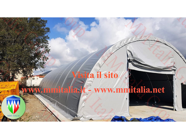 Tunnel Agricoli Agritunnel Professionali telo in pvc 720gr. mq. Ignifugo - 10