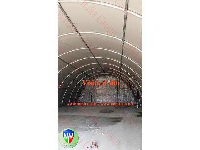 Tunnel Agricoli Agritunnel Professionali telo in pvc 720gr. mq. Ignifugo - 11