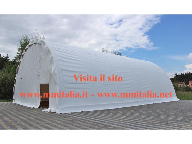 Tunnel Agricoli  9 x 20 x 4,5 mt. Tendoni Agritunnel Professionali telo in pvc 720gr. mq. Ignifugo - 2