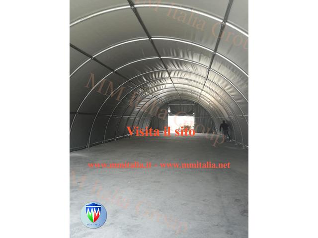 Tunnel Agricoli  9 x 20 x 4,5 mt. Tendoni Agritunnel Professionali telo in pvc 720gr. mq. Ignifugo - 4
