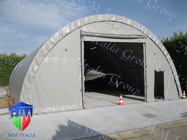 Tunnel Agricoli  9 x 20 x 4,5 mt. Tendoni Agritunnel Professionali telo in pvc 720gr. mq. Ignifugo - 8