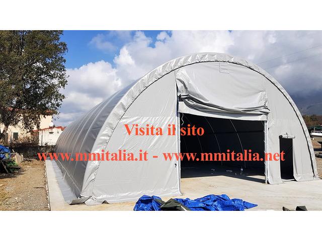 Tunnel Agricoli  9 x 20 x 4,5 mt. Tendoni Agritunnel Professionali telo in pvc 720gr. mq. Ignifugo - 10