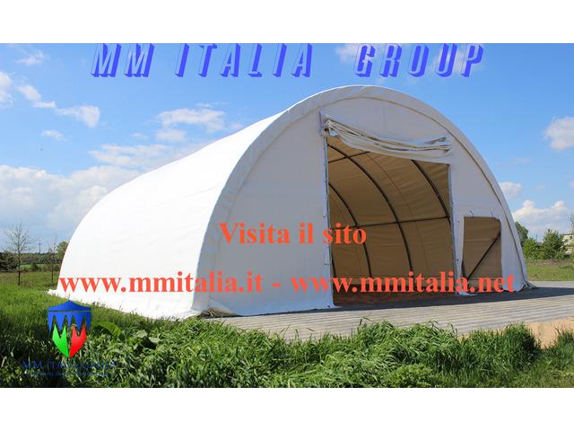 Tunnel Agricoli  9 x 20 x 4,5 mt. Tendoni Agritunnel Professionali telo in pvc 720gr. mq. Ignifugo - 11