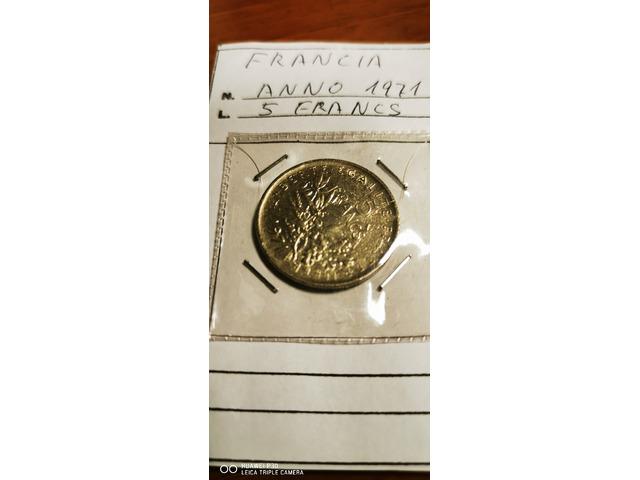 5 FRANCHI FRANCIA ANNO 1971
