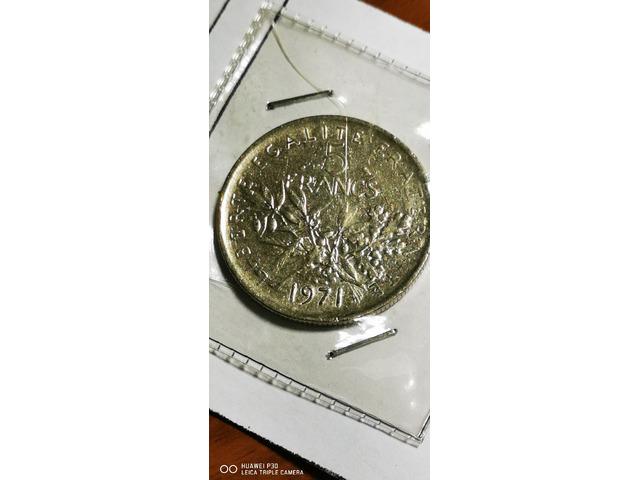 5 FRANCHI FRANCIA ANNO 1971 - 2