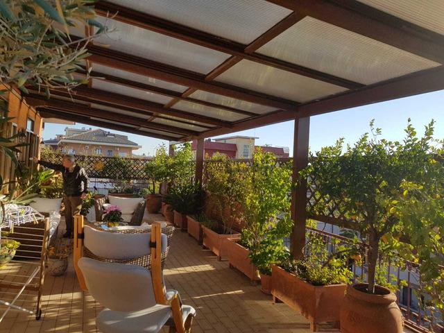 copertura per terrazzo o giardino in alluminio e policarbonato - 1