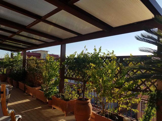 copertura per terrazzo o giardino in alluminio e policarbonato - 2