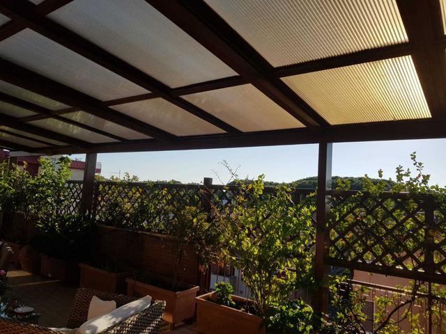 copertura per terrazzo o giardino in alluminio e policarbonato - 4