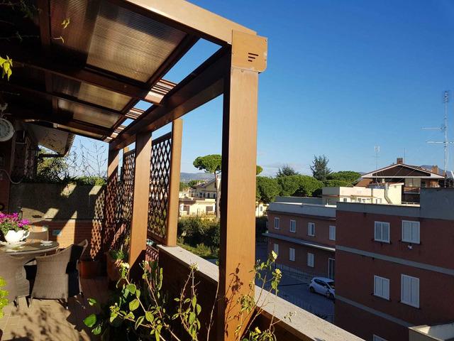 copertura per terrazzo o giardino in alluminio e policarbonato - 6
