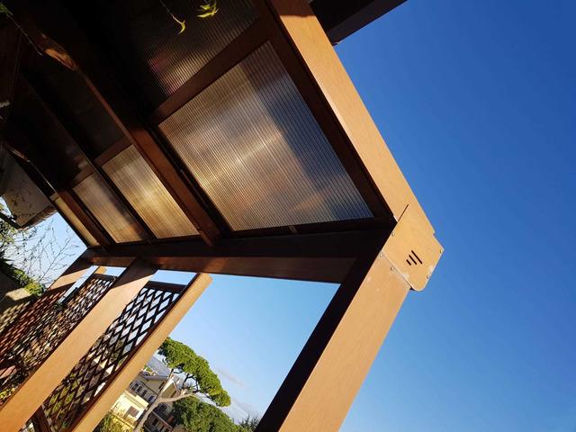 copertura per terrazzo o giardino in alluminio e policarbonato - 7