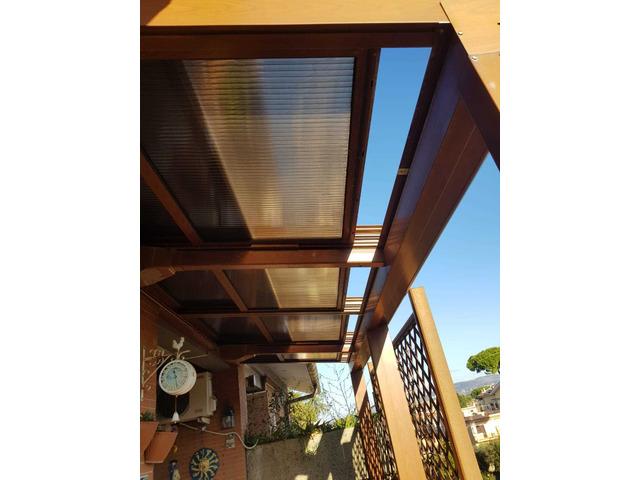 copertura per terrazzo o giardino in alluminio e policarbonato - 8