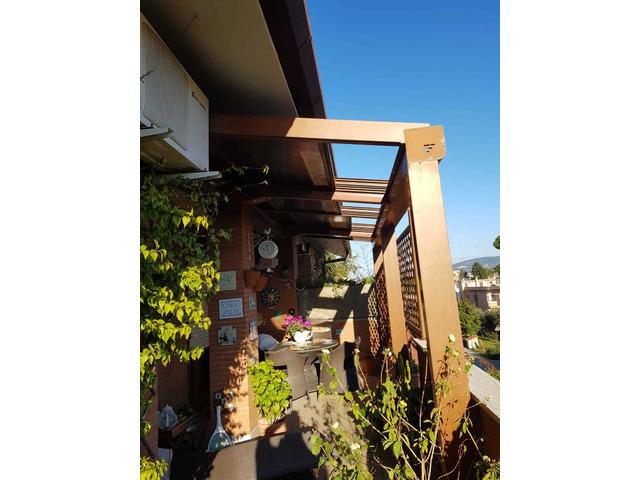 copertura per terrazzo o giardino in alluminio e policarbonato - 9