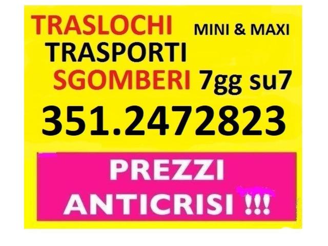 ROMA TRASLOCHI TRASPORTI NOLEGGIO FURGONE SGOMBERI 7GG SU7